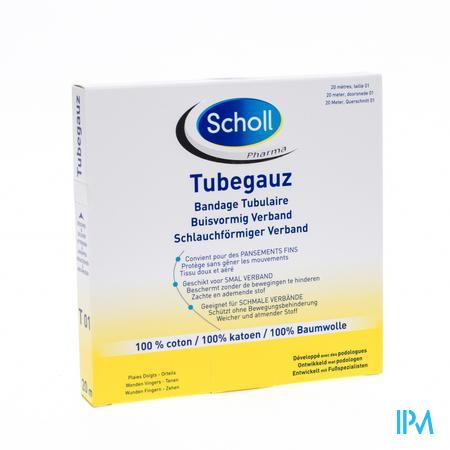 Scholl Pharma Tubegauz Vulling 1,8cm x 20m 1 stuk