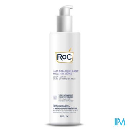 Roc Multi Action Make-up Remover Milk Fl 400ml