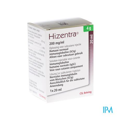 Hizentra 200mg/ml Sol Inj 4g/20ml