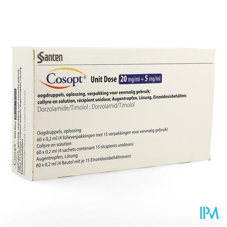 Cosopt Ud 20mg/ml + 5mg/ml 60 X 0,2ml