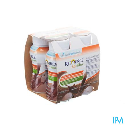 Resource 2.0 Fibre Chocolade 4x200ml 12209495