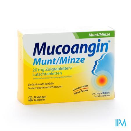Mucoangin Munt Zuigtabletten 30x20 mg