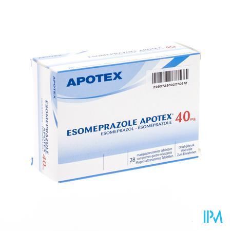 Esomeprazole 40mg Apotex C0mp Harde Maagsapr 28
