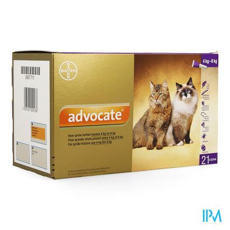 Advocate Spot On Opl Grote Kat >4- 8kg Pipet 21