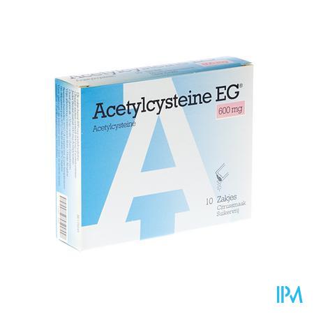 Acetylcysteine EG Zakjes 10x600 mg