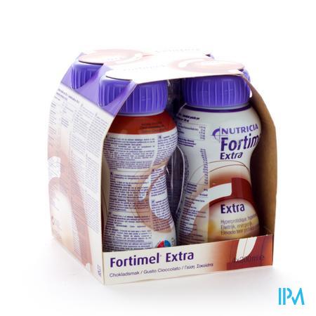 Afbeelding Fortimel Extra Choco 200ml 4 stuks.