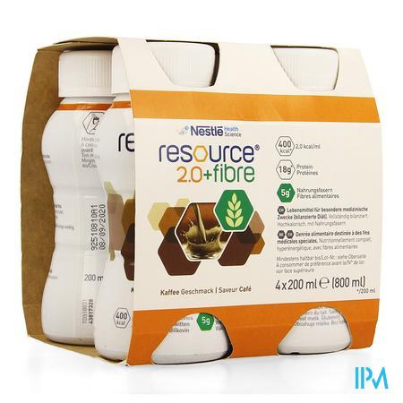 Resource 2.0 Fibre Koffie 4x200 ml 12100790