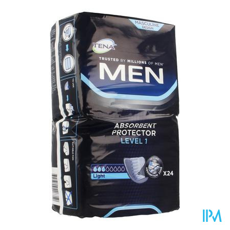 Afbeelding Tena for Men Level 1 Absorberend Verband voor Mannen met Licht Urineverlies 24 Stuks.