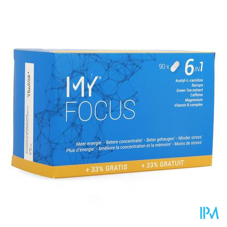 Afbeelding My Focus voor Meer Energie, Betere Concentratie, Beter Geheugen en Minder Stress 90 Tabletten .