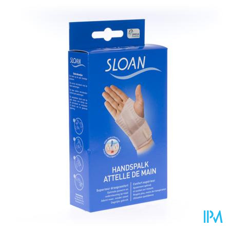 Sloan Handspalk Wit Links M 1 stuk