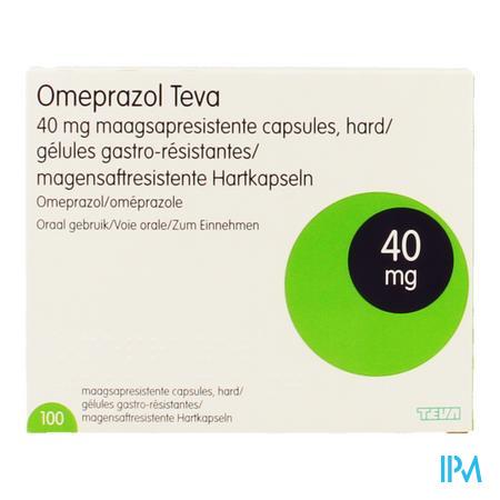Omeprazol Teva 40mg Caps Gastro Res Pilulier 100