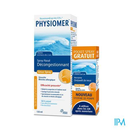 Physiomer Sinus Spray Nasal + Pocket Spray GRATUIT 135 + 20 ml