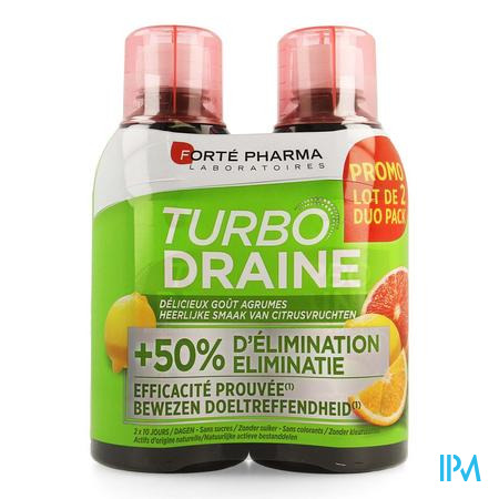 Turbodraine Citrusvruchten 2x500ml