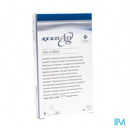 Aquacel Ag Hydrofiber 1x45cm 5 stuks