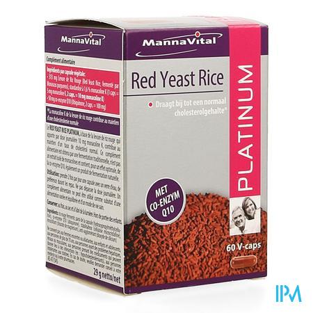Mannavital Red Yeast Rice Platinium V-caps 60