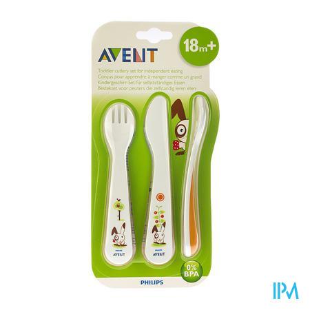 Avent Cuiller Fourchette Couteau + 18m