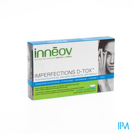 Inneov Imperfections D-Tox 40 tabletten