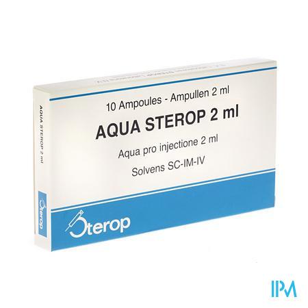 Aqua Sterop Pour Inj Solvens Ampullen 10 X 2 ml  -  Sterop