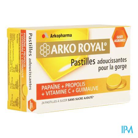 Arko Royal Propolis Papaine Orange 24 comprimés à sucer