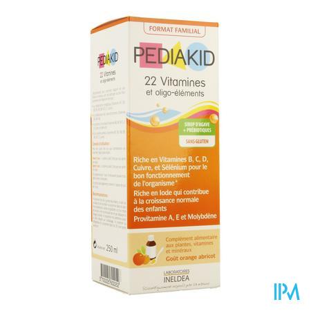 Pediakid 22 Vitamines Oligo Element. Sol Buv 250ml