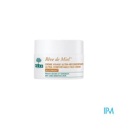 Nuxe Rêve De Miel Creme Visage Ultra Reconfortante Nuit 50 ml