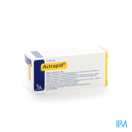 Actrapid 100iu/ml 1 X 10ml