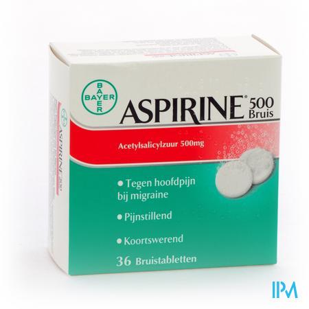 Afbeelding Aspirine 500mg 36 bruistabletten.