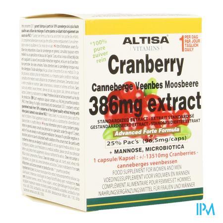 Altisa Cranberry Extract+mannose Adv.plus V-caps45
