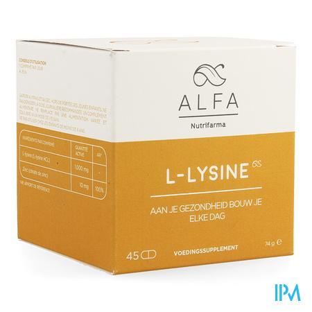 Alfa l-lysine 1000mg Tabl 45