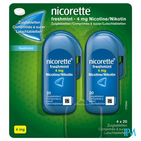 Nicorette Freshmint Zuigtabletten 80x4mg
