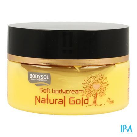 Afbeelding Bodysol Natural Gold Soft Bodycream met Jojoba- en Macadamia-Olie 200 ml.