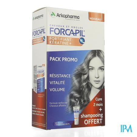 Forcapil Ontdekkingspack Caps 2x60+sh 200ml Grat.