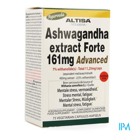 Altisa Ashwagandha Forte 161mg Advanced Caps 75