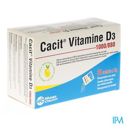Cacit Vit. D3 1000 mg/880IEBruisgranul. Zakje 30