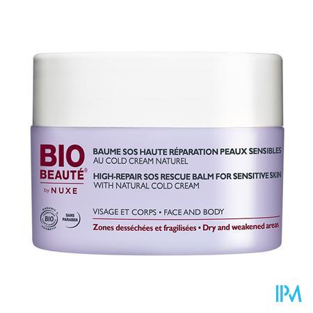 Afbeelding Nuxe Bio Beauté Herstellende SOS Balsem met Cold Cream voor Uitgedroogde Huidzones van Gelaat en Lichaam 50 ml.