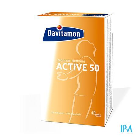 Davitamon Active 50 Man 20 +10 Tabletten Gratis 20+10 tabletten
