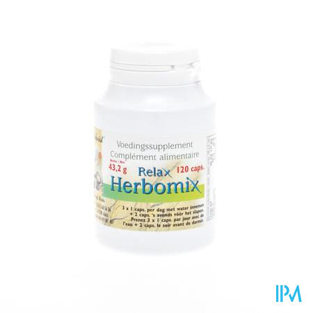 Herborist Relax Herbomix Caps 120 0745a