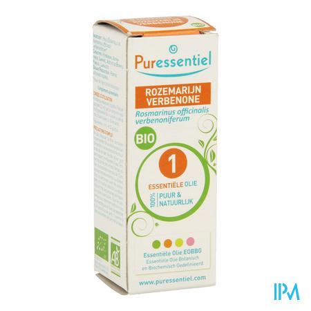 Afbeelding Puressentiel Bio Essentiële Olie van Rozemarijn Verbenone 5 ml.