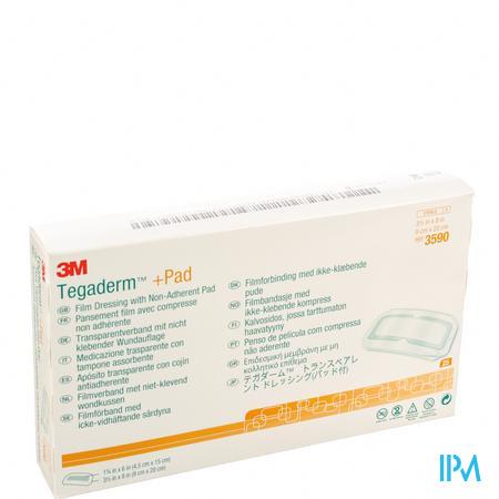 3M Tegaderm + Pad Transparant Sterile 9 x 20Cm 25 stuks