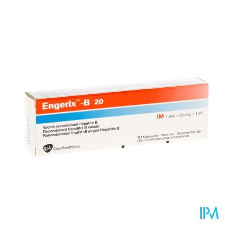 Engerix B 20 Ser Im 1ml