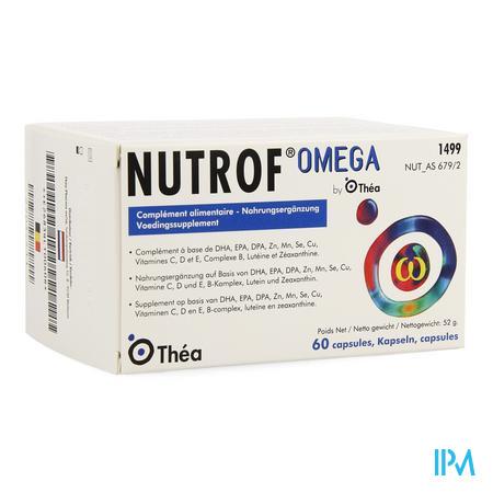 Afbeelding Nutrof Omega 60 Capsules.