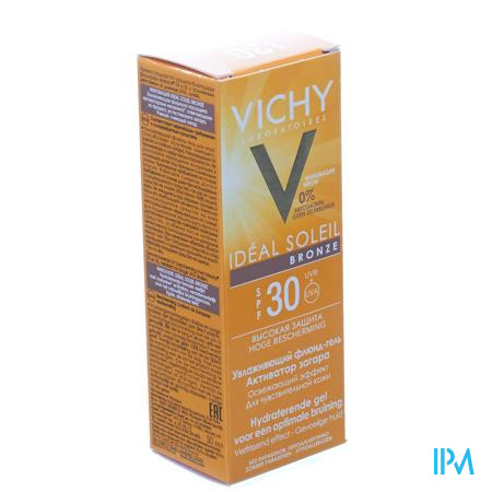 Afbeelding Vichy Ideal Soleil Bronze Hydraterende Zonnegel met SPF 30 voor Optimale Bruining 50 ml.