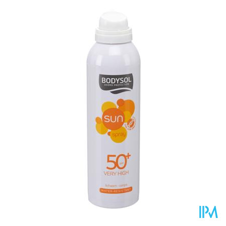 Afbeelding Bodysol Waterresistente Zonne-Aerosol SPF 50+ voor Lichaam Spray 150 ml.