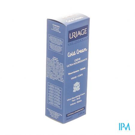 Afbeelding Uriage Cold Cream Ultravoedende Beschermende Crème voor Baby's voor Gelaat en Lichaam Tube 75 ml.