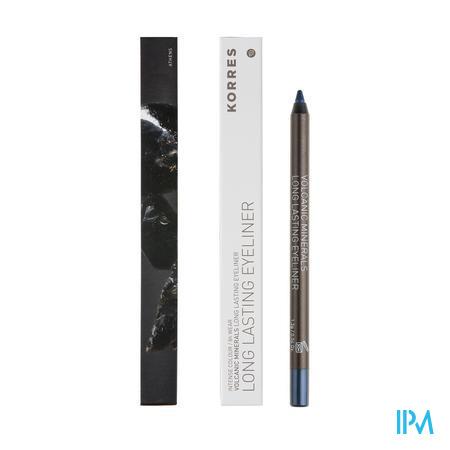 Afbeelding Korres Volcanic Minerals Long Lasting Eyeliner Oogpotlood n°08 Blue 1,2 g.