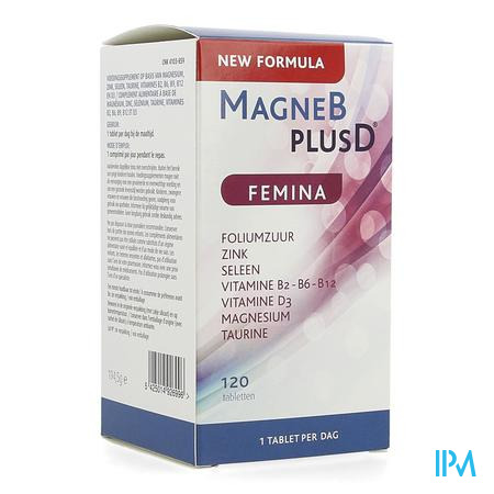 Afbeelding Magne B plus D Femina 120 Tabletten.