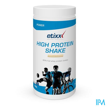 Afbeelding Etixx High Protein Shake met Vanillesmaak 1 kg.