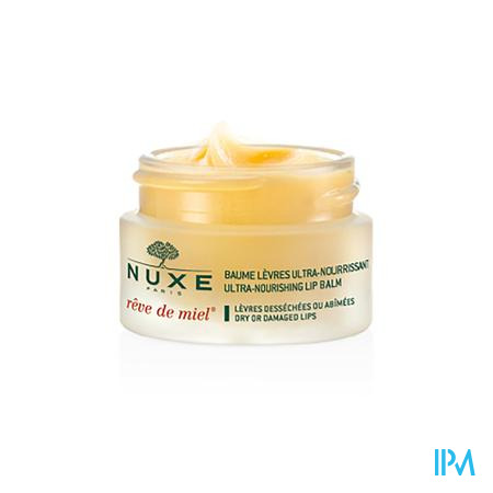 Afbeelding Nuxe Rêve de Miel Ultra-Voedende Ongetinte Lippenbalsem voor Droge of Beschadigde Lippen Potje 15 g.