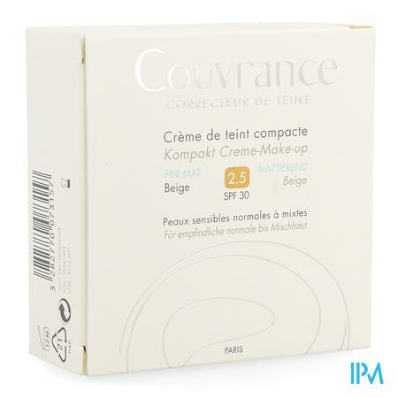 Afbeelding Avène Couvrance Getinte Compactcrème met Mat Effect voor Normale tot Gemengde Huid Tint n° 2.5 Beige 10 g.