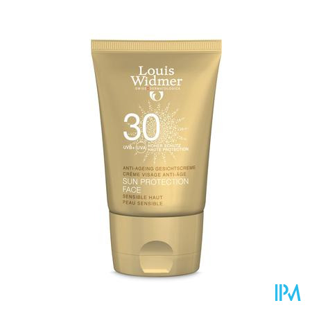 Afbeelding Louis Widmer Sun Protection Face IP30 zonder parfum 50ml.